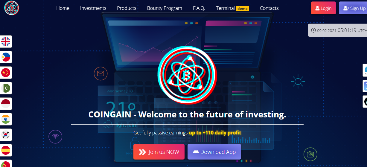 COINGAIN - Welcome to the future of investing